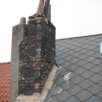 La cheminée avant sa rénovation