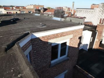Un toit plat avant rénovation